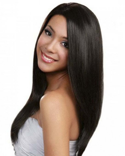 Pre-Plucked Full Lace Wig Silky Straight 130% density Indian Virgin Hair