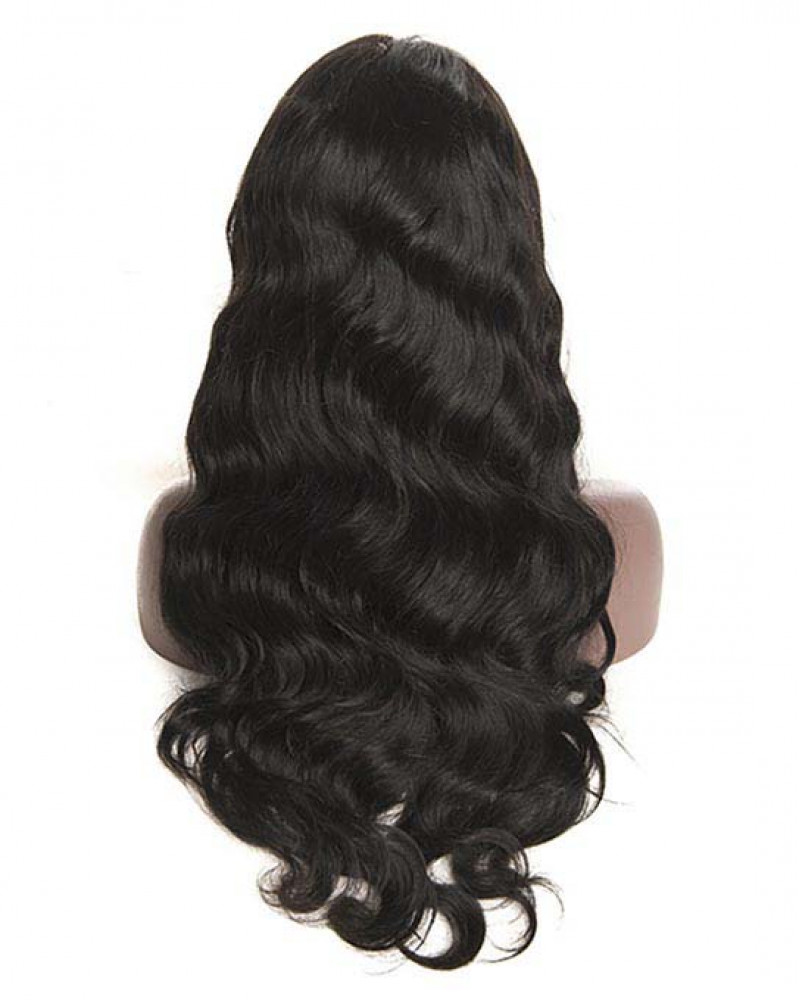 Malaysian Virgin Human Hair Body Wave Pre-Plucked Full Lace Wigs