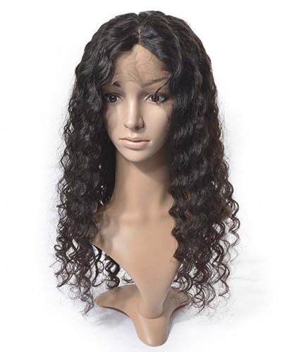 Natural Hairline Deep Wave 150% Density Full Lace Wigs