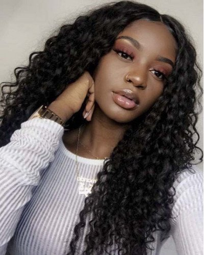 Hot Sale 2018 Deep Curly Natural Hairline Full Lace Wigs