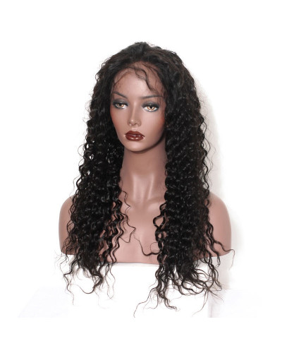 Loose Curly Natural Color Human Hair Full Lace Wigs