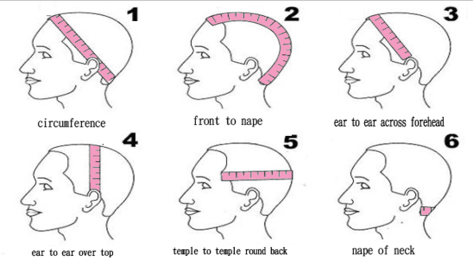 How to measure your wig cap ?