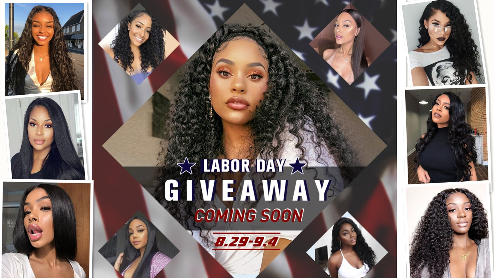 Get Ready to Win Mychicwigs Labor Day Giveaway Free Wigs!